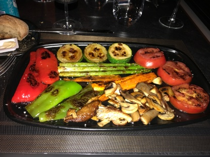 Grilled vegetables as first course
